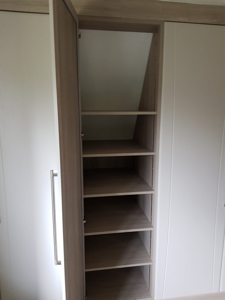 Do you have an angled back space where you would like a wardrobe fitted