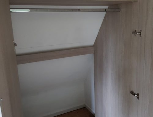 Do you have an angled back space where you would like a wardrobe fitted?